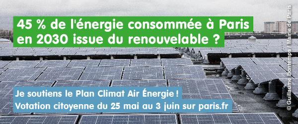 Votation sur le Plan Climat de la ville de Paris